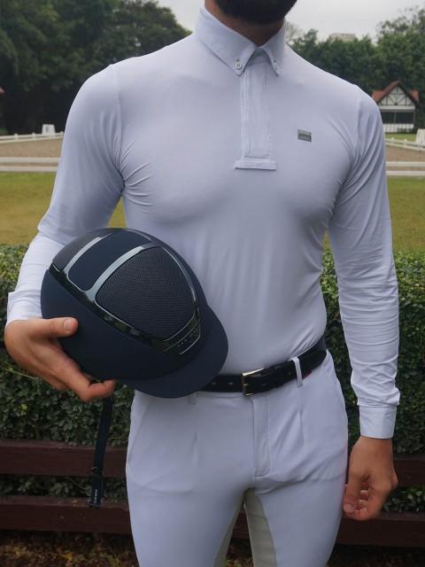 Camisa de prova masc manga longa frebte corpo