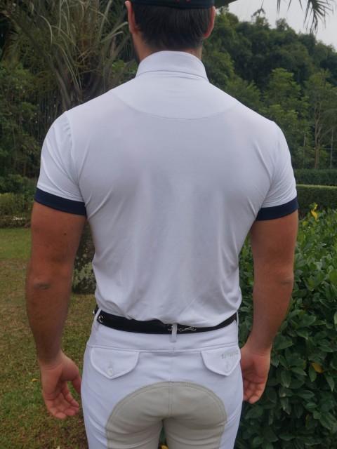 Camisa de prova masc marinho costas corpo