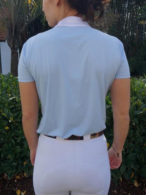 camisa de prova fem azul clara costas corpo