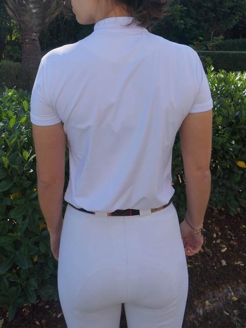 camisa de prova fem branca costas corpo