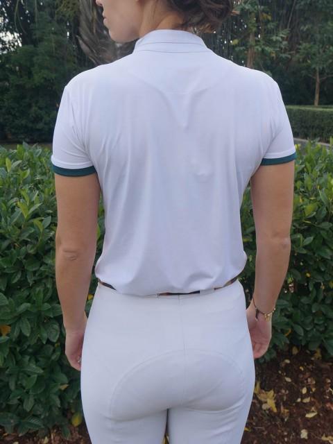 camisa de prova fem verde costas corpo