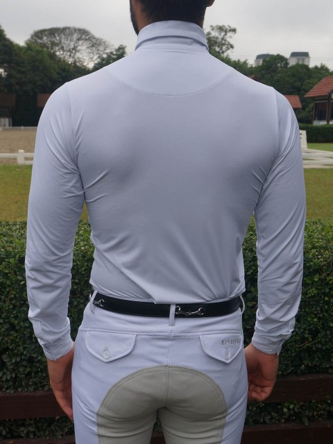 camisa de prova masc manga longa costa corpo